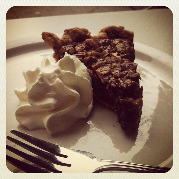 Chocolate espresso pecan cream pie... mouthgasm.